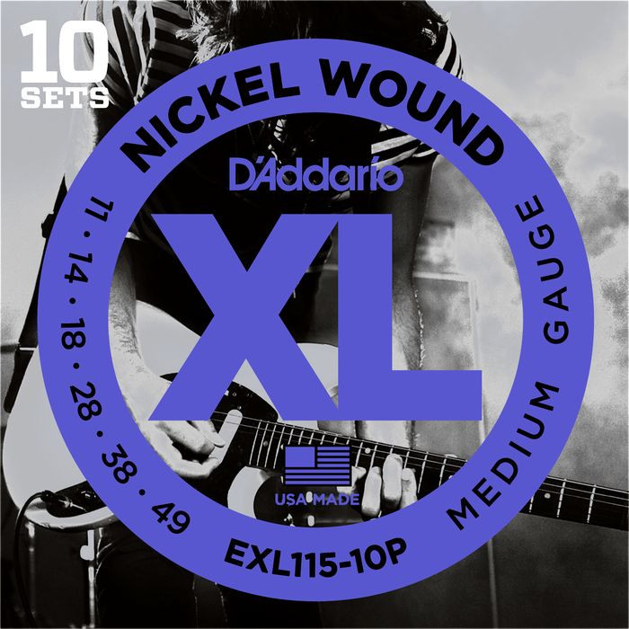 D'ADDARIO EXL115-10P Blues/Jazz Rock - .011 - .049