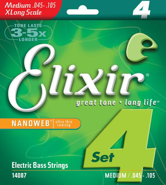 ELIXIR 4 strings NANOWEB Extra Long .045 - .105