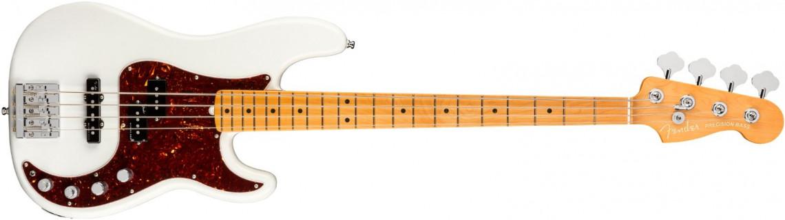 FENDER American Ultra Precision Bass Arctic Pearl Maple