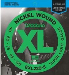 D'ADDARIO EXL220-5 Super Light - .040 - .125