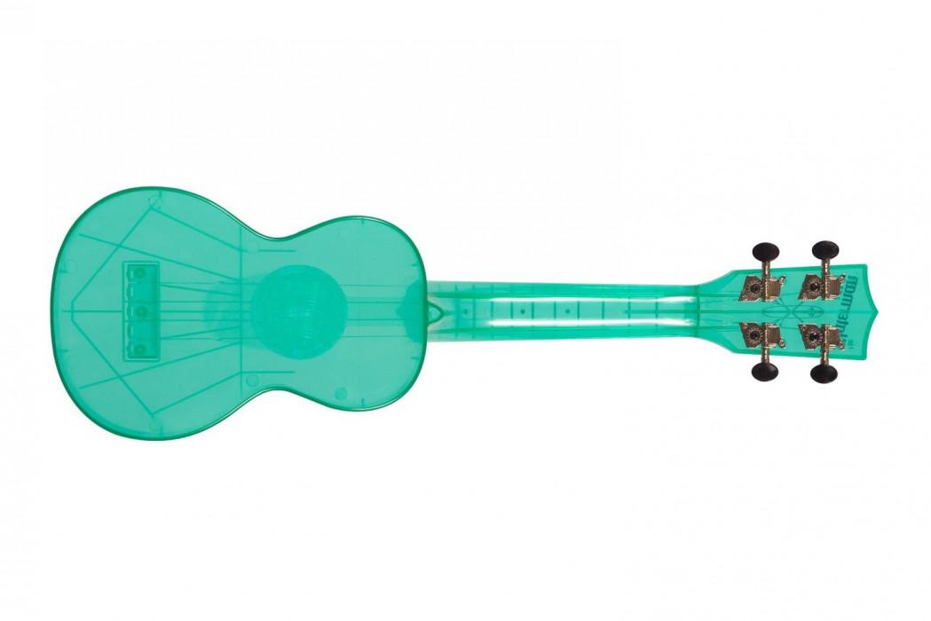KALA Waterman Soprano Ukulele Fluorescent Blue Raspberry