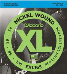 D'ADDARIO EXL165 Regular Light Top/Medium Bottom - .045 -.105