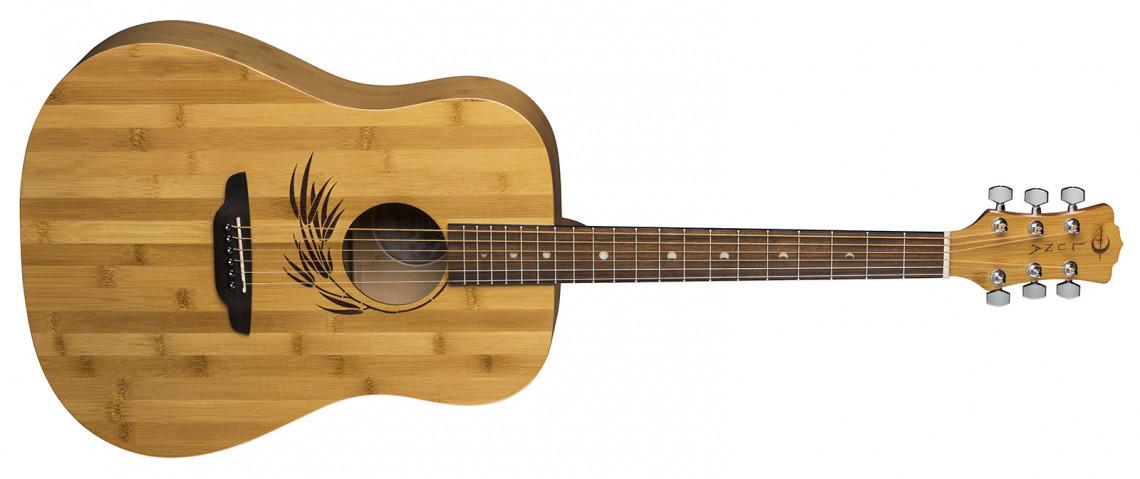 LUNA GUITARS Woodland Bamboo Dreadnought Satin Natural