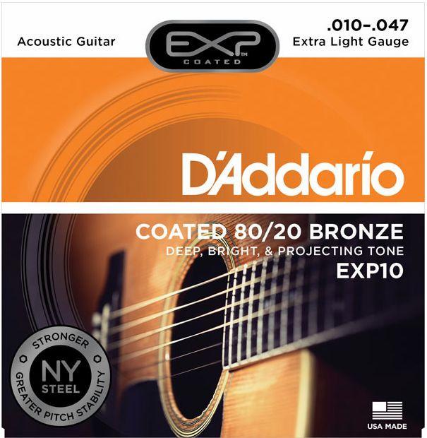 D'ADDARIO EXP10 80/20 Bronze Extra Light - .010 - .047