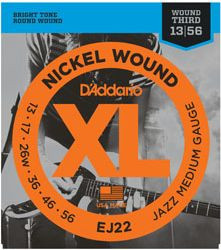 D'ADDARIO EJ22 Nickel Wound Jazz Medium - .013 - .056