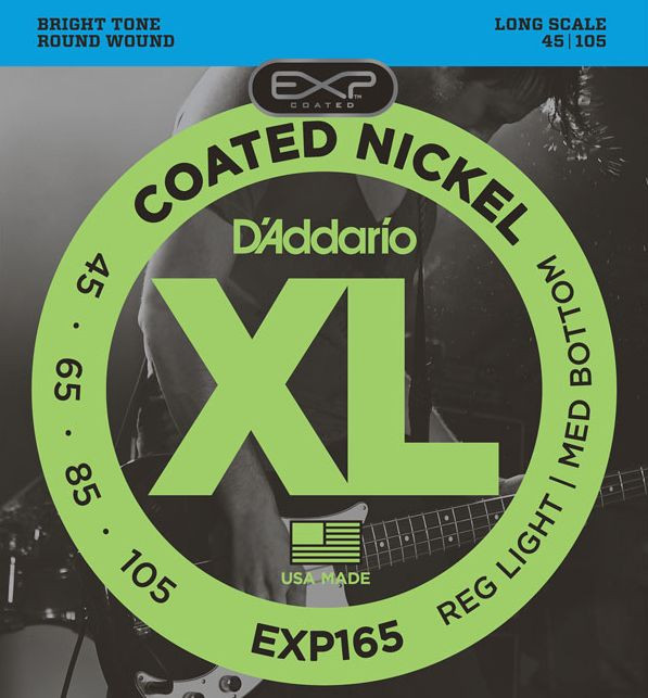 D'ADDARIO EXP165 Long Scale Light Top/Regular Bottom .050 - .105