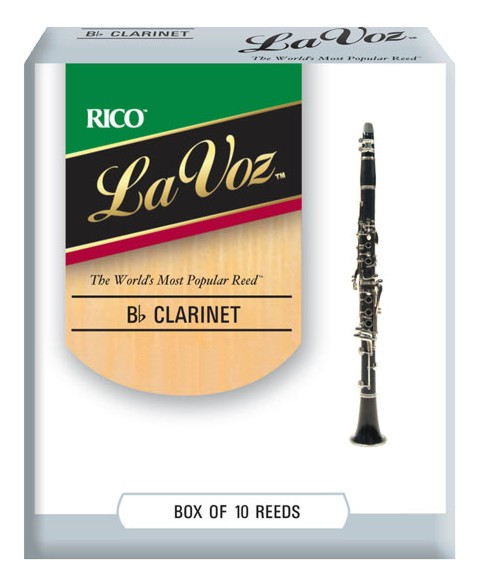 RICO RCC10MH La Voz - Bb Clarinet Reeds Medium Hard - 10 Box