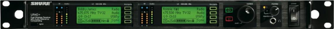 SHURE UR4D+ J5 578 - 638 MHz