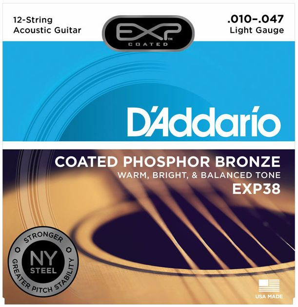D'ADDARIO EXP38 Phosphor Bronze Light 12 - .010 - .047
