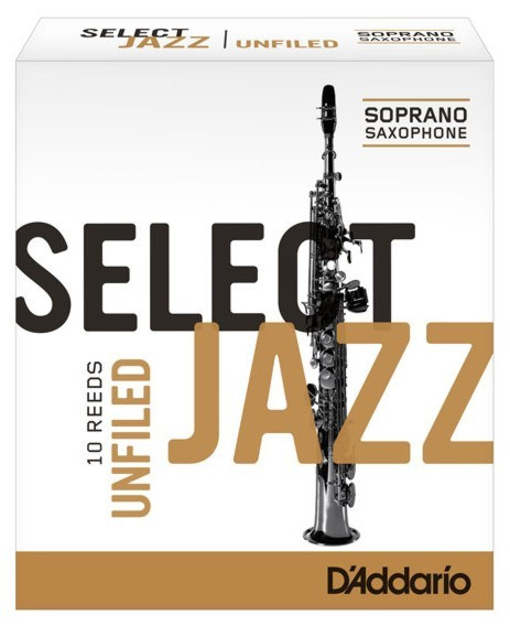 RICO RRS10SSX3S Select Jazz - Soprano Saxophone Reeds - Unfiled - 3 Soft - 10 Box