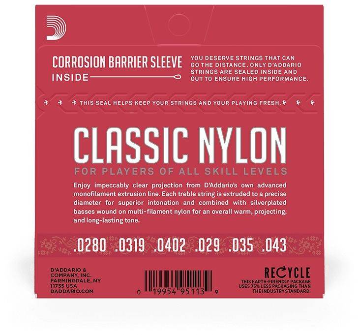 D'ADDARIO EJ27N Classic Nylon Normal 28-43