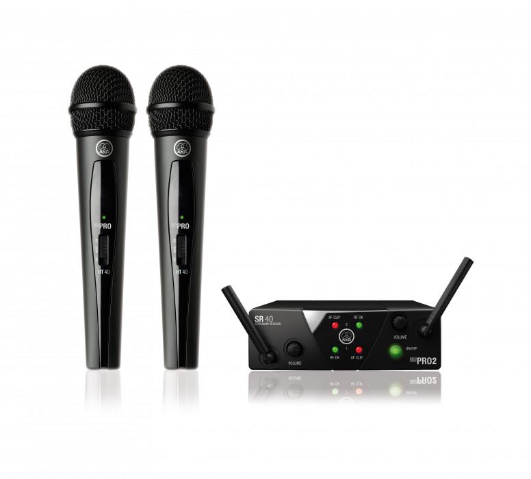 AKG WMS40 MINI2 VOCAL SET DUAL US45A/C