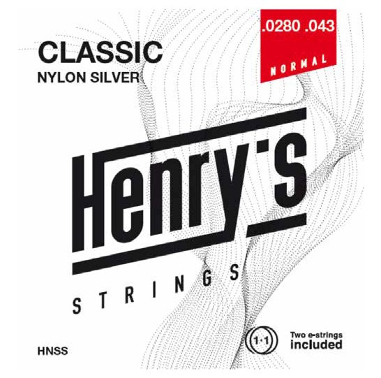 """HENRY'S STRINGS HNSS Classic Nylon Silver - 0280"""" - 043"""""""