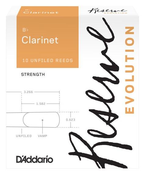 RICO DCE10355 Reserve Evolution - Bb Clarinet Reeds 3.5+ - 10 Box