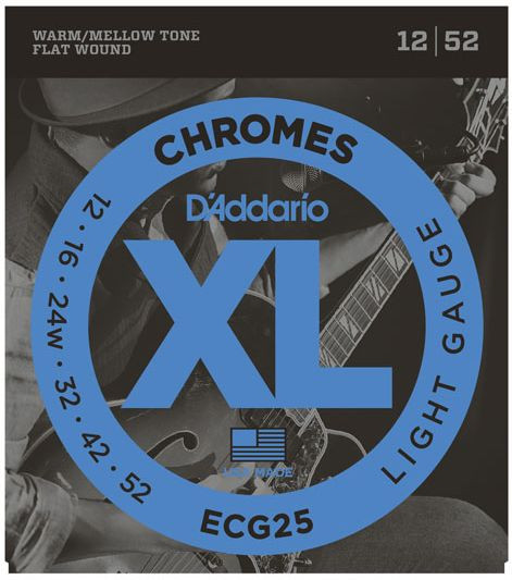 D'ADDARIO ECG25 Chromes Flat Wound Light 12-52