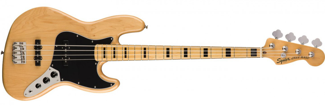 FENDER SQUIER Classic Vibe 70s Jazz Bass Natural Maple