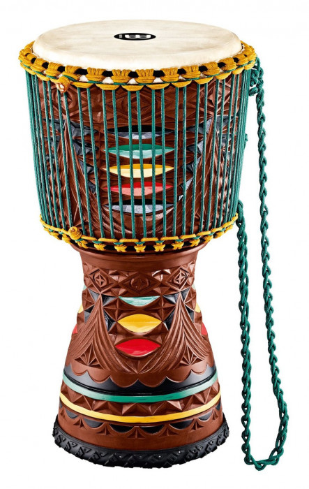 MEINL AE-DJTC2-L Artisan Edition Tongo Carved Djembe - Coloured Ornamental Carving