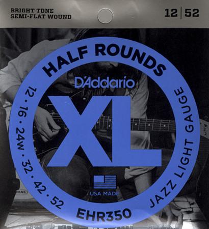 D'ADDARIO EHR350 Half Rounds Jazz Light -  .012 - .052