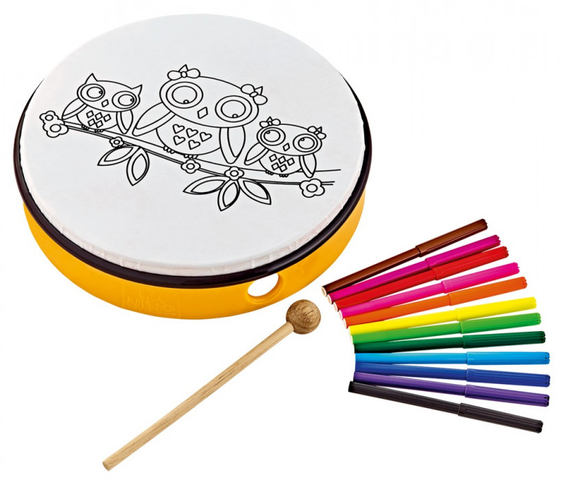 "NINO PERCUSSION NINO5OW Customizable ABS Hand Drum 10"" - Owls"