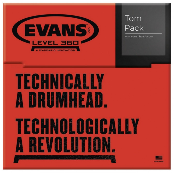 E-shop Evans Black Chrome Tom Pack - Rock