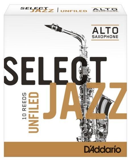 RICO RRS10ASX3H Select Jazz - Alto Saxophone Reeds - Unfiled - 3 Hard - 10 Box