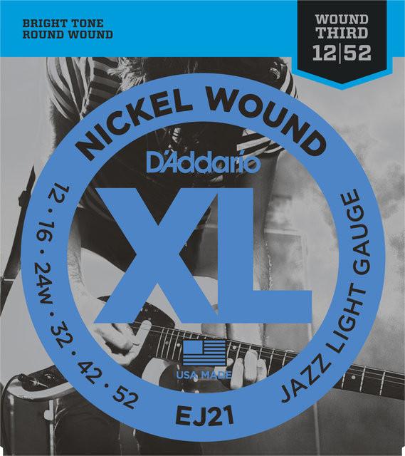 D'ADDARIO EJ21 Nickel Wound Jazz Light - .012 - .052