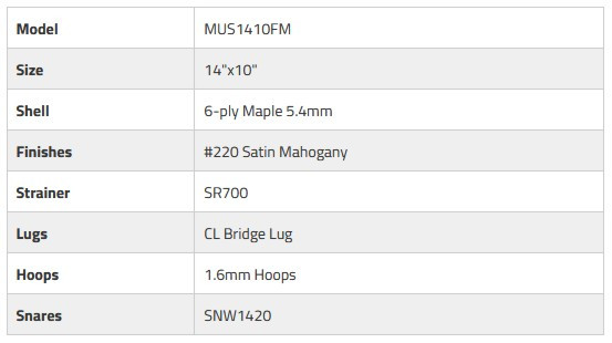 "PEARL MUS1410FM/C220 Modern Utility Floor Snare 14""x10"" - Satin Mahogany"