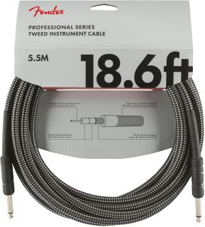 FENDER Professional Series 18,6 Instrument Cable Gray Tweed
