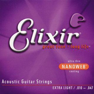 ELIXIR Acoustic 80/20 Bronze with NANOWEB .010 - .047