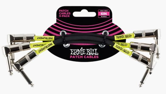 ERNIE BALL P06050 Patch Cable 3-Pack Black