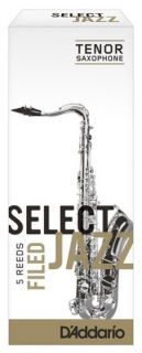 RICO RSF05TSX2S Select Jazz - Tenor Saxophone Reeds - Filed - 2 Soft - 5 Box