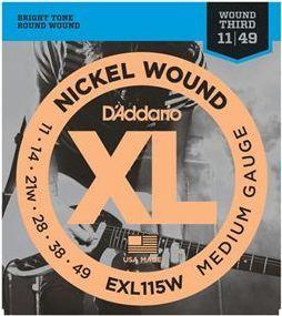 D'ADDARIO EXL115W Blues/Jazz Rock - .011 - .049