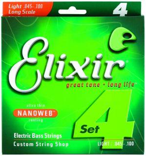 ELIXIR 4 strings NANOWEB Long .045 - .100