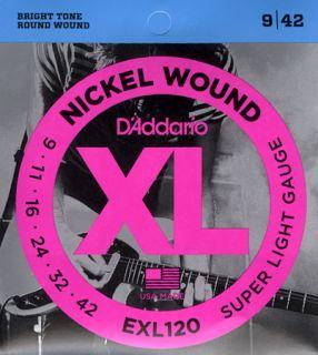 D'ADDARIO EXL120 Super Light - .009 - .042