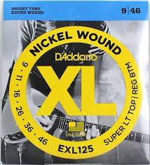 D'ADDARIO EXL125 Super Light Top/ Regular Bottom - .009 - .046