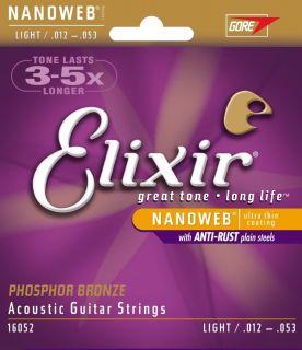 ELIXIR Acoustic Phosphor Bronze with NANOWEB .012 - .053