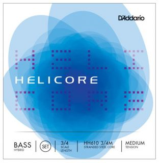 D´ADDARIO - BOWED HH610 3/4M Helicore Hybrid Bass String Set 3/4 - Medium