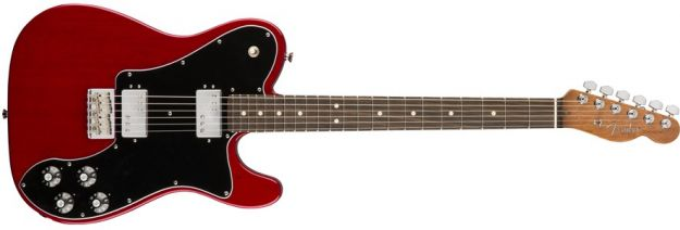 FENDER 2017 Ltd Edition American Professional Mahogany Telecaster Deluxe Shawbucker Crimson Red Transparent Rosewood
