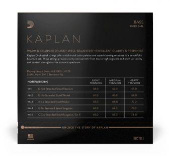 D´ADDARIO - BOWED K610 3/4L Kaplan Bass String Set - Light