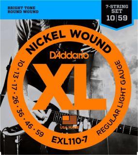 D'ADDARIO EXL110-7 Regular Light 7 string - .010 - .059