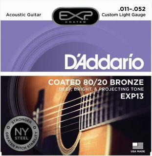 D'ADDARIO EXP13 80/20 Bronze Custom Light - .011 - .052