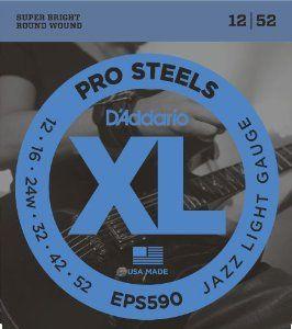 D'ADDARIO EPS590 Pro Steels Jazz Light  - .012 - .052