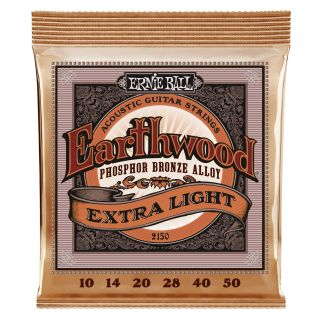 ERNIE BALL P02150 Phosphor Bronze Extra Slinky - .010 - .050