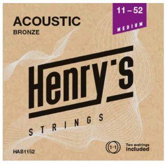 "HENRY'S STRINGS HAB1152 Acoustic Bronze - 011"" - 052"""