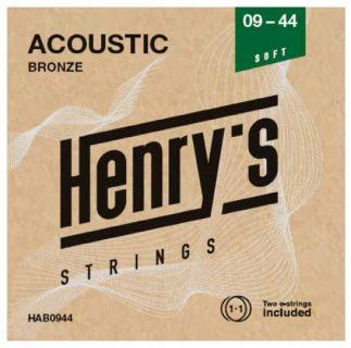 "HENRY'S STRINGS HAB0944 Acoustic Bronze - 009"" - 044"""