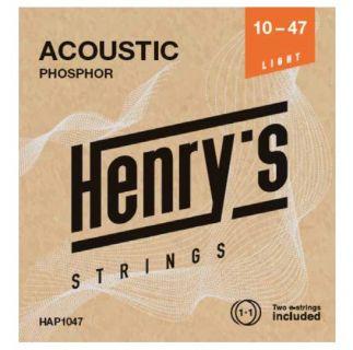 """HENRY'S STRINGS HAP1047 Acoustic Phosphor - 010"""" - 047"""""""