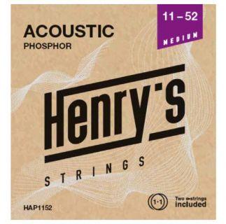 """HENRY'S STRINGS HAP1152 Acoustic Phosphor - 011"""" - 052"""""""
