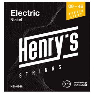 "HENRY'S STRINGS HEN0946 Electric Nickel - 009"" - 046"""