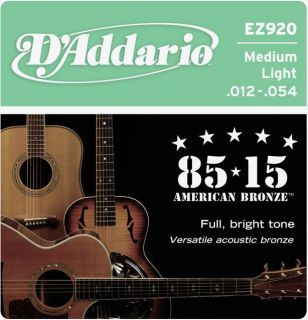 D'ADDARIO EZ920 80/15 Bronze Mid Light - .012 - .054