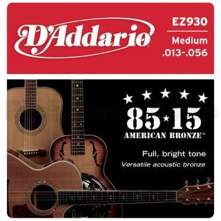 D'ADDARIO EZ930 80/15 Bronze Medium - .013 - .056